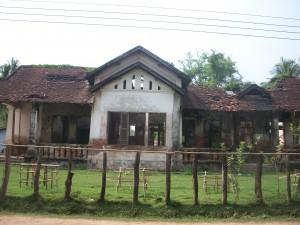une ancienne maison coloniale sur l'île don Khone