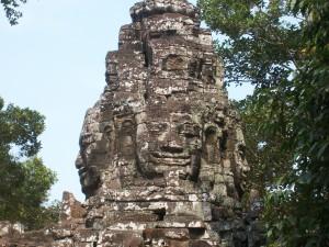 28 tête au 4 visages au temple de banteay Kdei