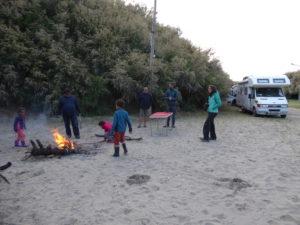péninsule Valdes petite soirée autour d'un feu de camp