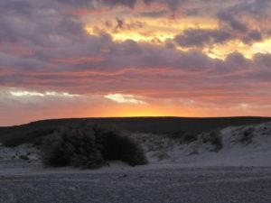 Playa Doradillo au coucher du soleil