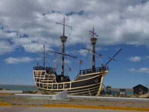 La réplique du bateau de Magellan