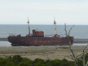 le bateau échoué sur la plage de Cabo San Pabl