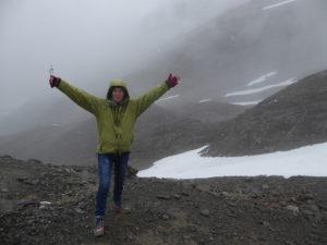 Au glacier Martial