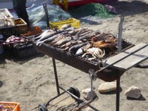 Grillades de poissons