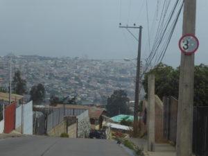 Arrivée à Valparaiso