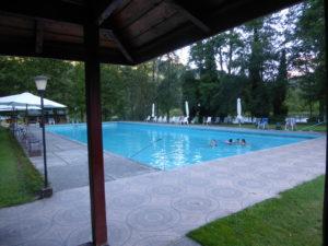 La piscine de sources chaudes