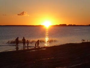 Coucher de soleil sur le lac Ricón de Bolete