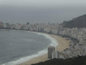 la plage de Copacabana vue du Pain de sucre