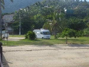 bivouac au bord de la plage