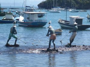 Statues de pêcheurs