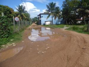 rue inondée à Barra Grande