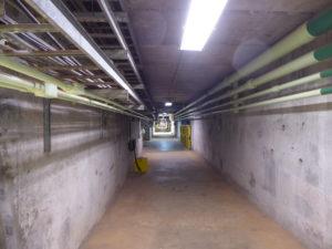 Une partie du couloir d'un km de long à 2ààm de hauteur