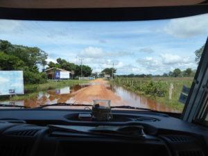 arrivée sur la piste du Pantanal : la Transpantaneira