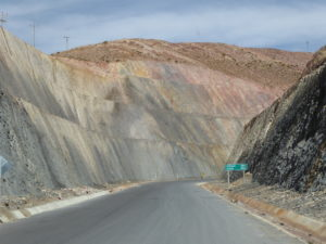 Paysage sur la route d'Uyuni