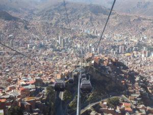 Vue du Périférique sur la ville de LA Paz