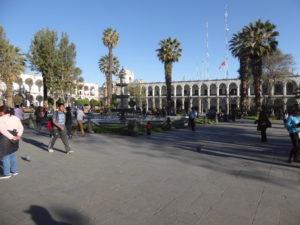 la place des armes à Arequipa