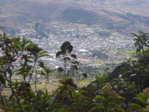 Vue sur la ville de Cajamarca