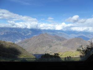 Paysage sur la route de Cajamarca à Balsas