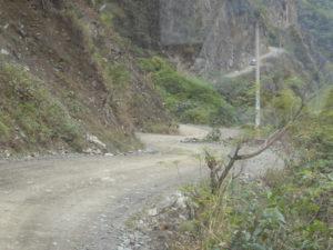 piste vers Santa Teresa