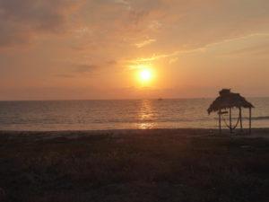 coucher de soleil à Manchalilla
