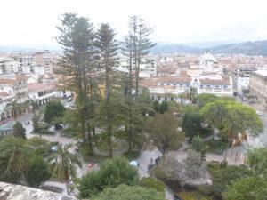 la place Calderón vue du haut de la cathédrale