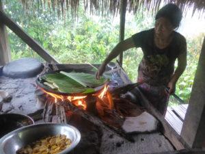 a cuisson du plantain à la communauté