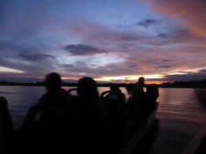 coucher de soleil sur la laguna grande