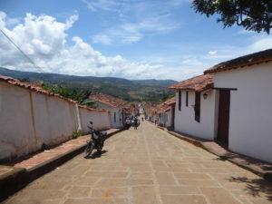 une rue de Barichara