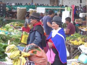 au marché de Silvia