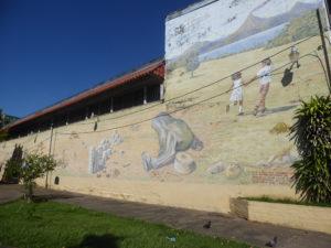 fresque racontant la vie du Nicaragua