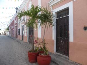 La rue Frailes et ses maisons colorées