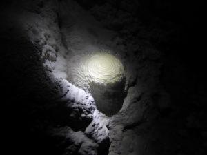 début de stalagmite