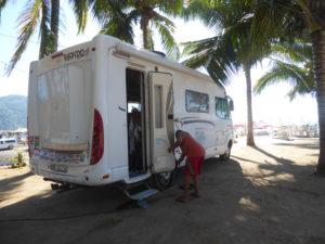 au camping à la Manzanilla